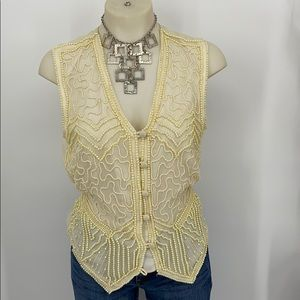 Your dream Pearl beaded vest size medium